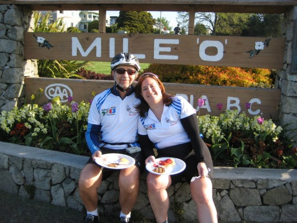 Patrick Houston and Sue Sohnle at Mile 0