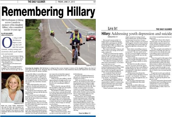 The Daily Gleaner - June 21, 2013