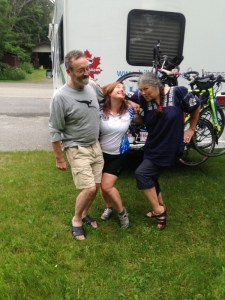 David, Sue and Beth, hamming it up
