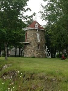 A quaint stone windmill