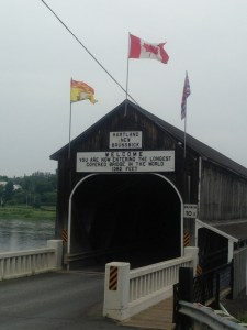 Covered bridge on the way to Woodstock
