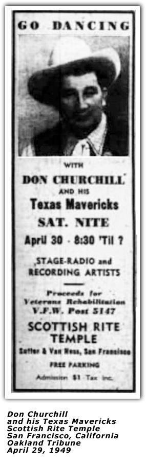 Image result for Don Churchill & His Texas Mavericks