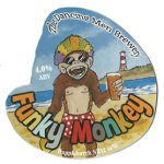 Funky Monkey craft ale from The Dancing Men Brewery, Happisburgh Norfolk