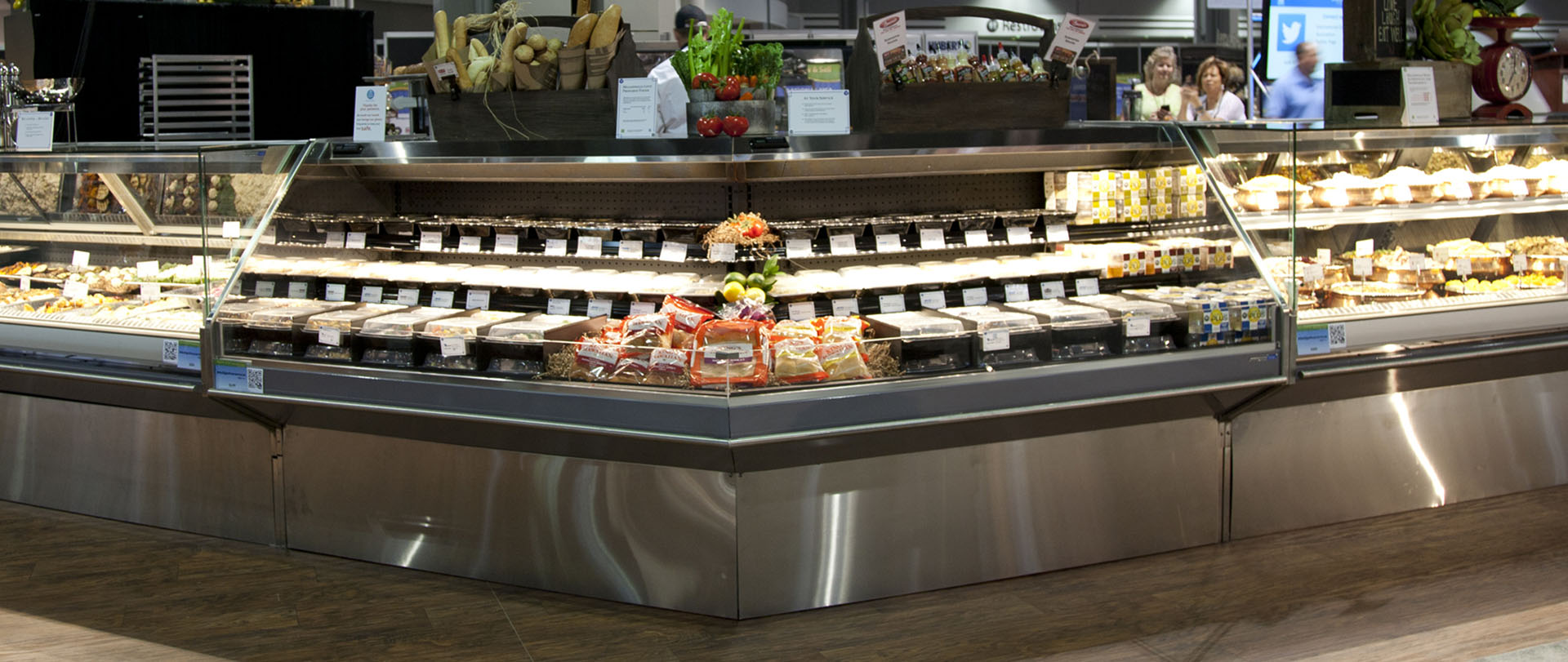 DLPF R Refrigerated Display Case For Bakery Beverage