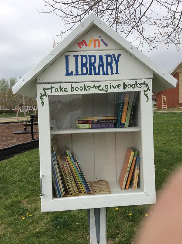 The mini library that Trinity Mennonite Church built for area children. Provided photo