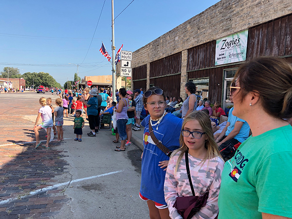 """Hundreds of spectators lined both sides of Main Street in Florence on Monday to watch the 82nd annual parade, which is part of the Florence Labor Day celebration. This year's parade theme was, """"99.96 Percent Pure Fun."""" Patty Decker / Free Press"""