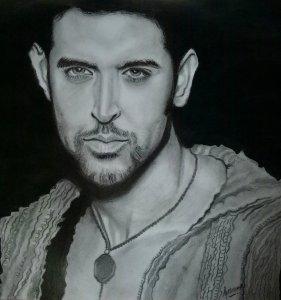 Sketch of Hrithik Roshan