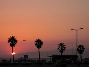 Sunset in Santa Monica Los Angeles
