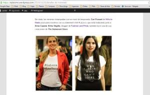 Nos mencionaron en el blog de Styleismo