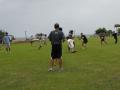 Ben runs for daylight after catching a pass.