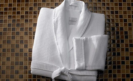 Waffle Shawl Collar Robe Hilton To Home Hotel Collection
