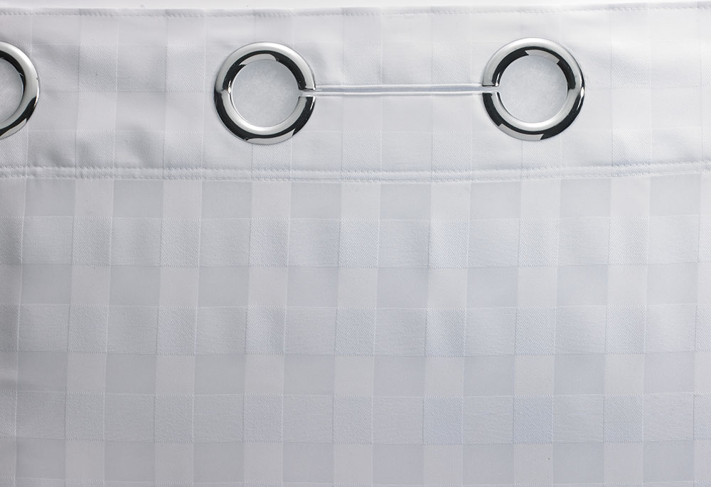 Basketweave Hookless Shower Curtain Hilton To Home Hotel Collection