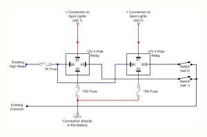 Spot lights  wiring diagram