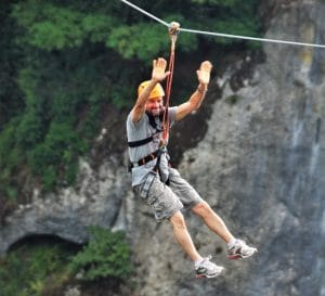 Flying Fox Adventure Sport in India, and its destinations.