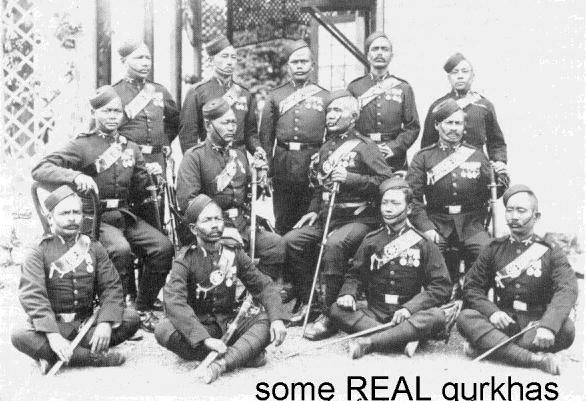 Gurkha officers, 1/5 Regiment, maybe 1883