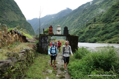 Day 2 - cruising out of Tal Village