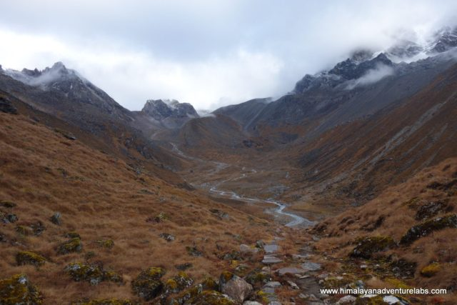 Looking back as we started the climb in earnest up to the pass. This river valley would have been great to camp in.