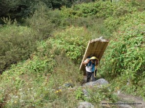 We saw many porters carrying supplies into the upper part of the valley. Our packs felt suddenly much lighter