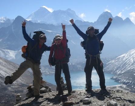 Chola - Everest and Makalu behind us...