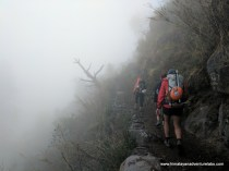 Taking the upper trail into the mist