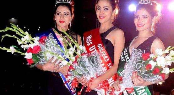 Winners of Golfer Shot's Miss Uttarakhand Contest 2016