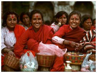 Nepali street vendor ladies