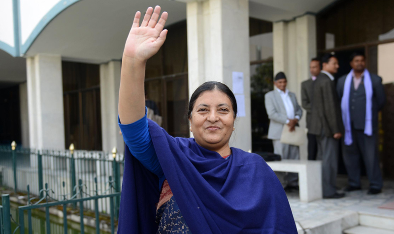 Bidhya Devi Bhandari, 54, is only the second person to be elected president since Nepal abolished itsmonarchy in 2008