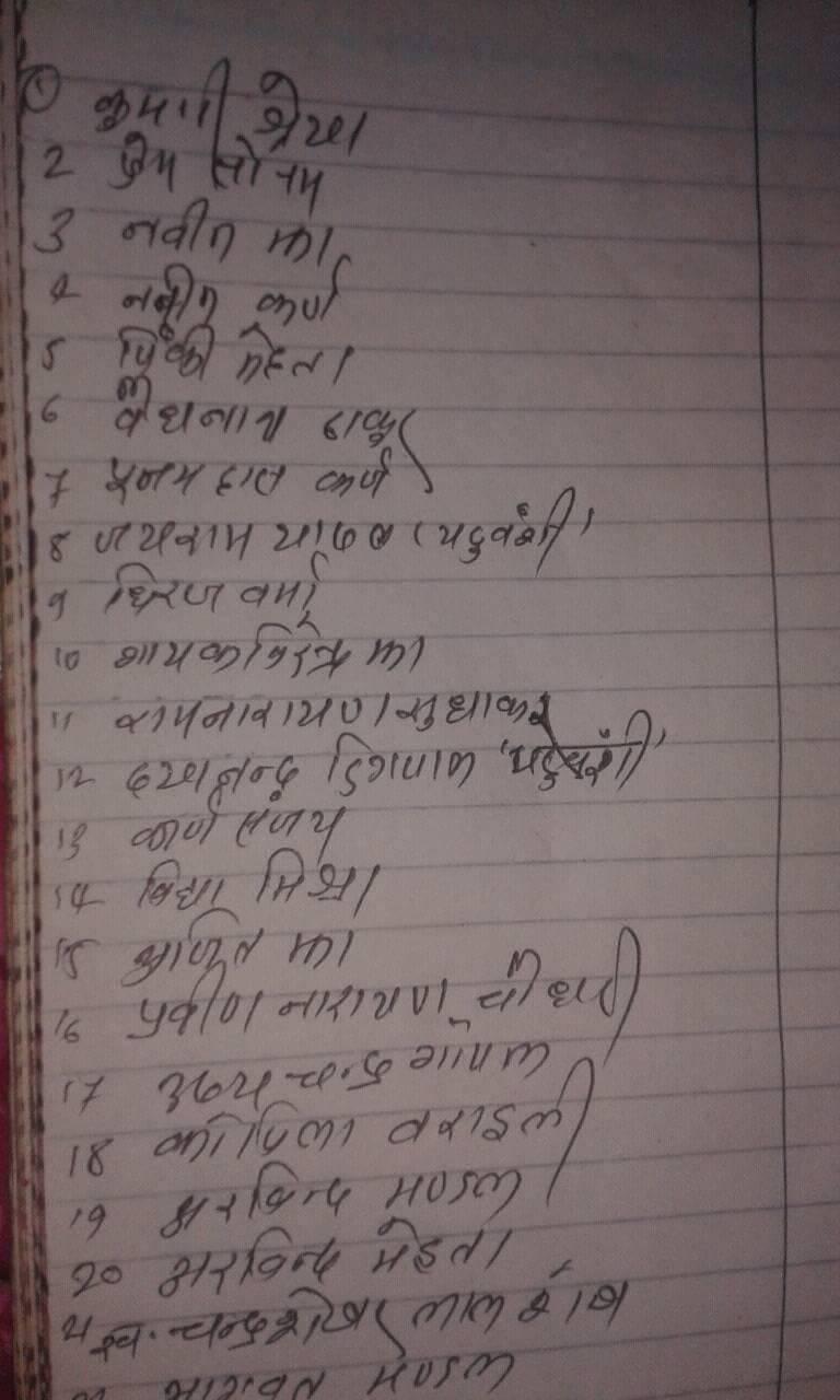 maithili-list