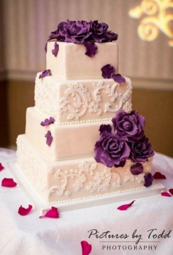 100 Most Beautiful Wedding Cakes For Your Wedding      Hi Miss Puff 4 tiered white wedding cake