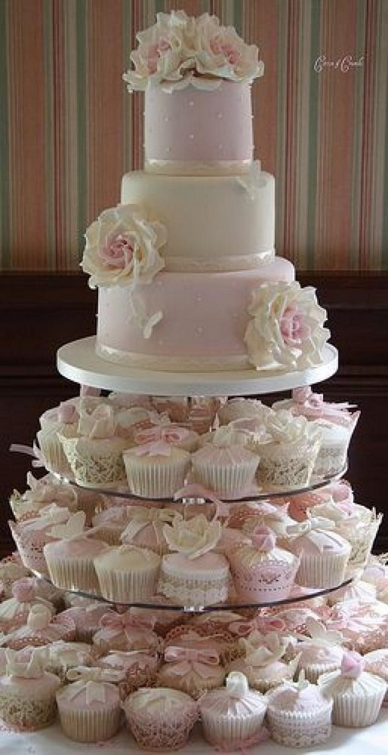 100  Ideas about Beautiful Wedding Cupcakes     Hi Miss Puff Mini Wedding Cake Wedding Cupcake 50 jpg
