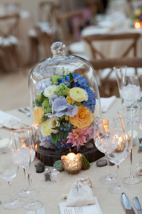 55 Gorgeous Glass Cloche Bell Jar Wedding Ideas Hi