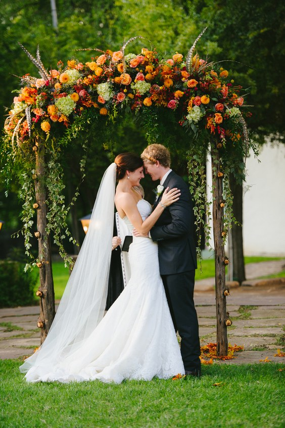 40 Outdoor Fall Wedding Arch And Altar Ideas Hi Miss