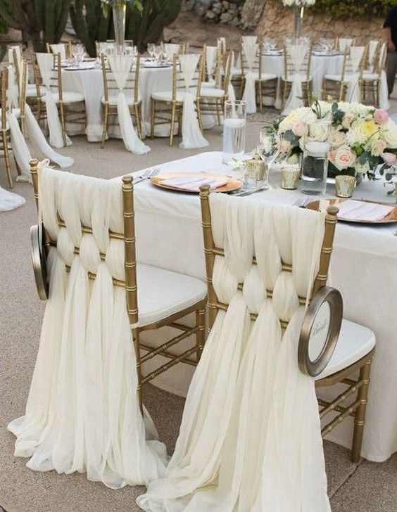 Gold Covers Dining Room Chair