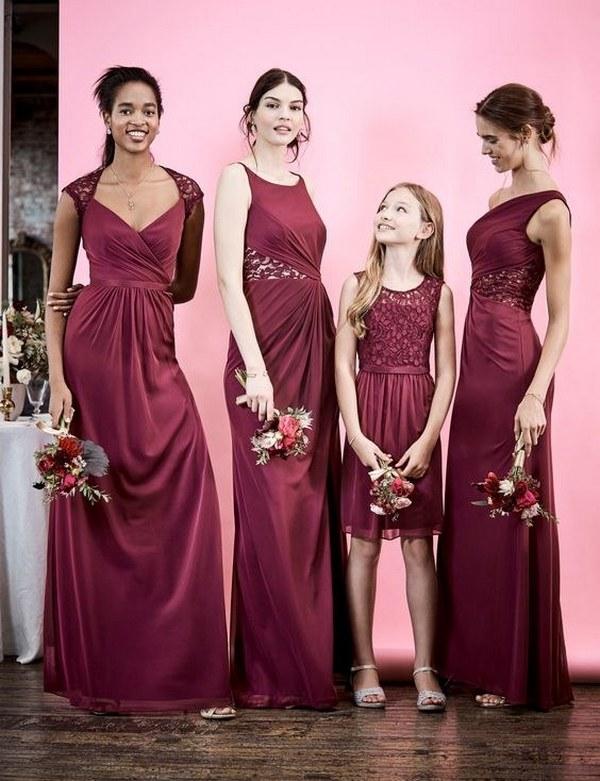 burgundy bridesmaid dresses from David's Bridal