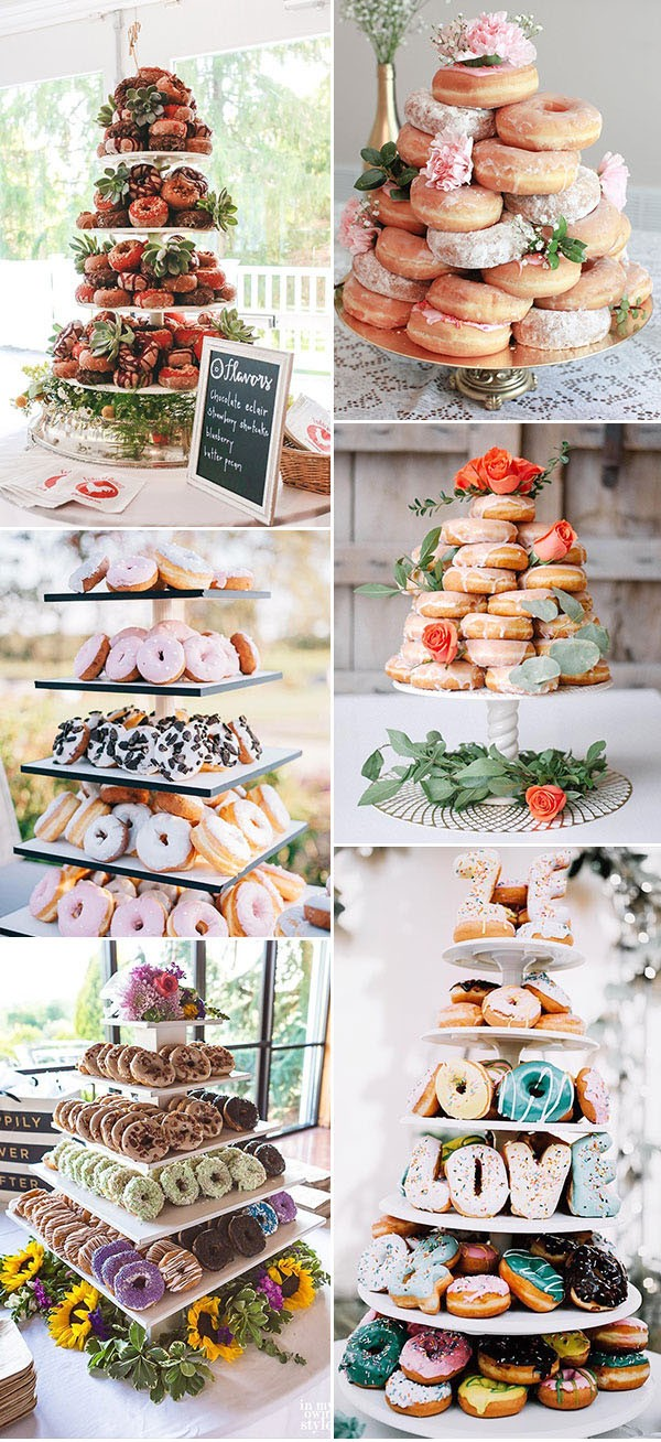 Donuts Stand Wedding Dessert and Donut Bar wedding food ideas