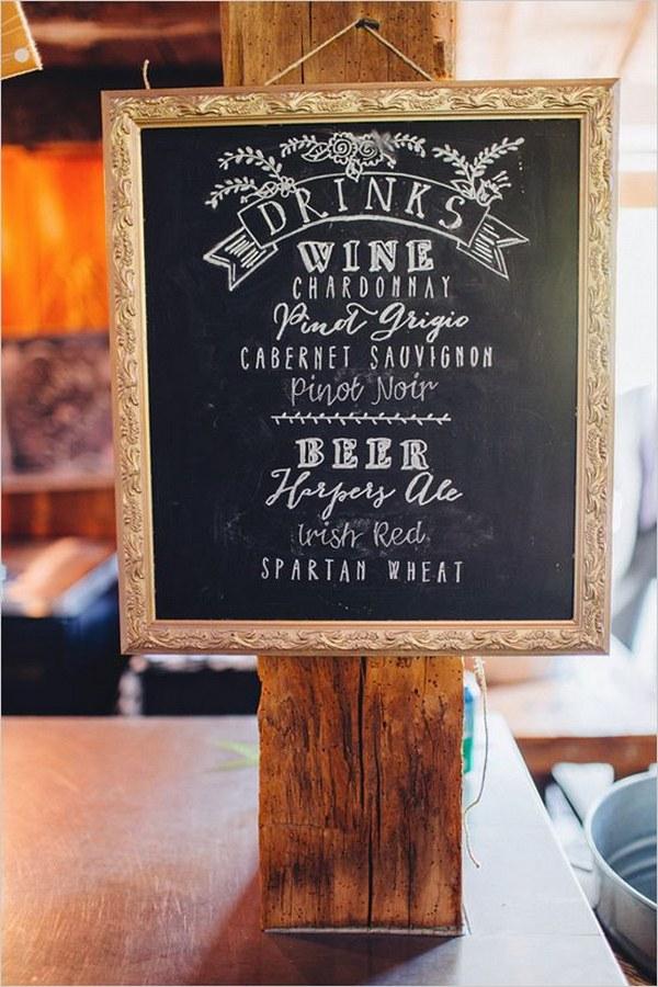 20 Wedding Signature Cocktail Sign Ideas Hi Miss Puff