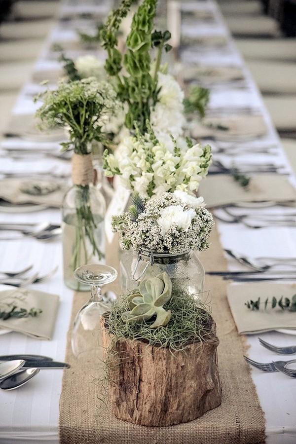 Blush And Grey Wedding Centerpieces