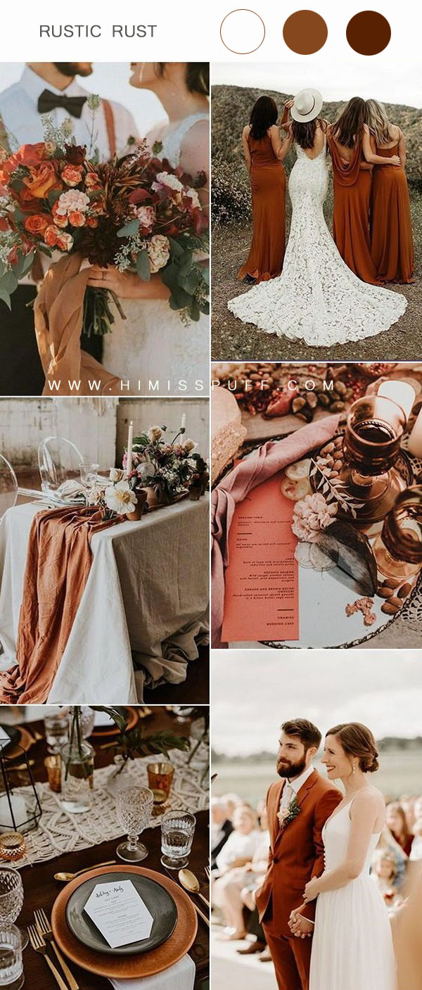 rust wedding bouquet wedding table runner wedding centerpiece decor ideas