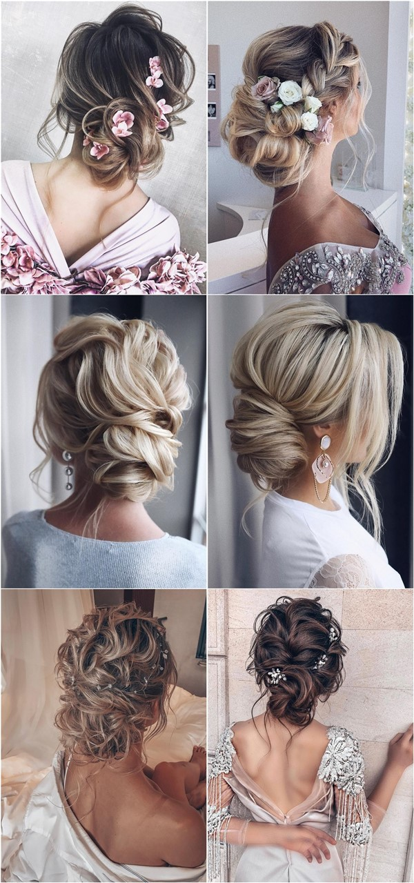 Messy updo wedding hairstyles for long hair3