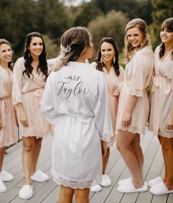bridesmaids getting ready robes from Wedding Favorites