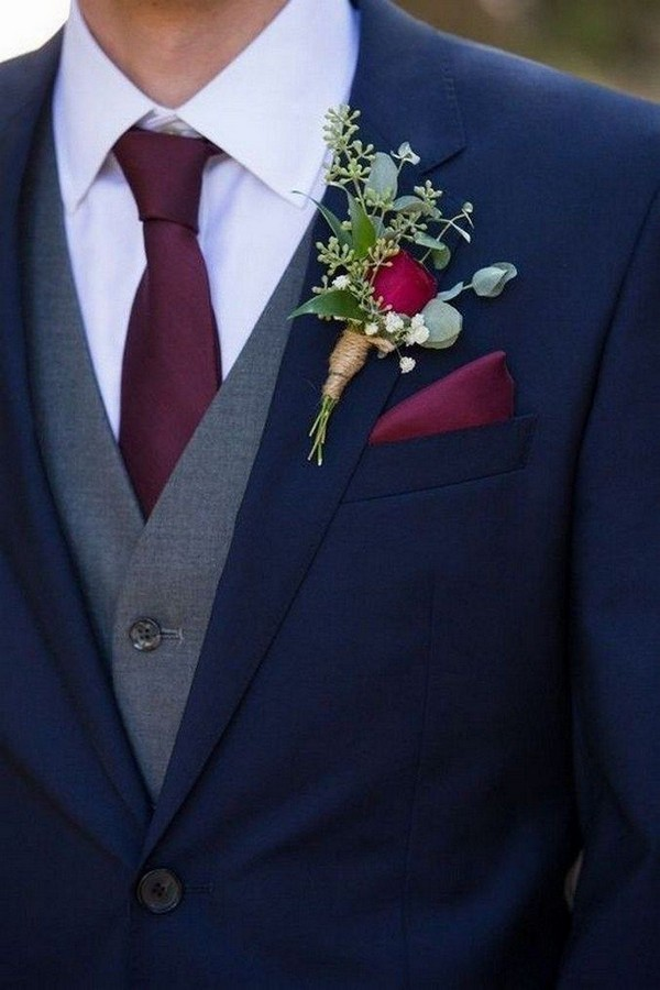 burgundy and navy wedding color ideas