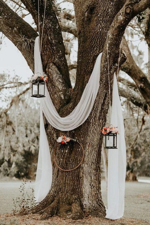 boho outdoor wedding arch backdrop ideas