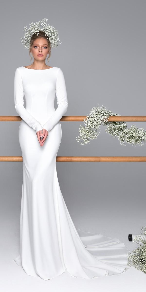 Eva Lendel elegant simple wedding dresses caprise