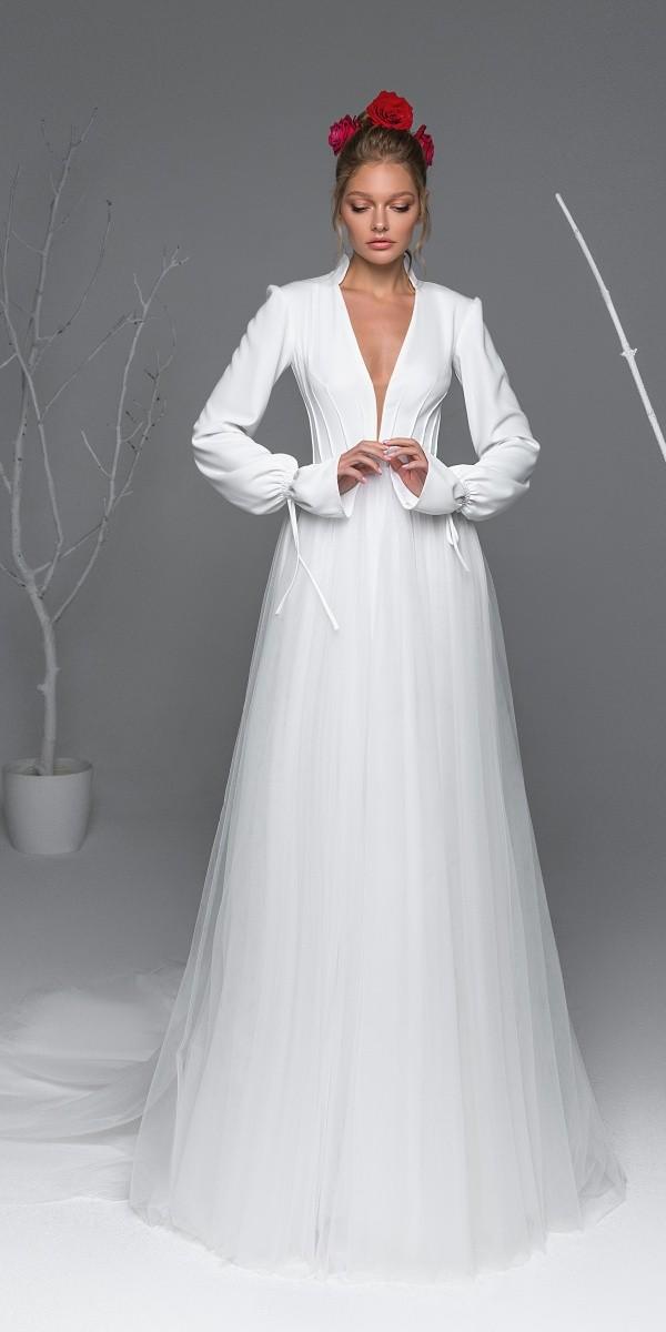 Eva Lendel elegant simple wedding dresses dacota_2