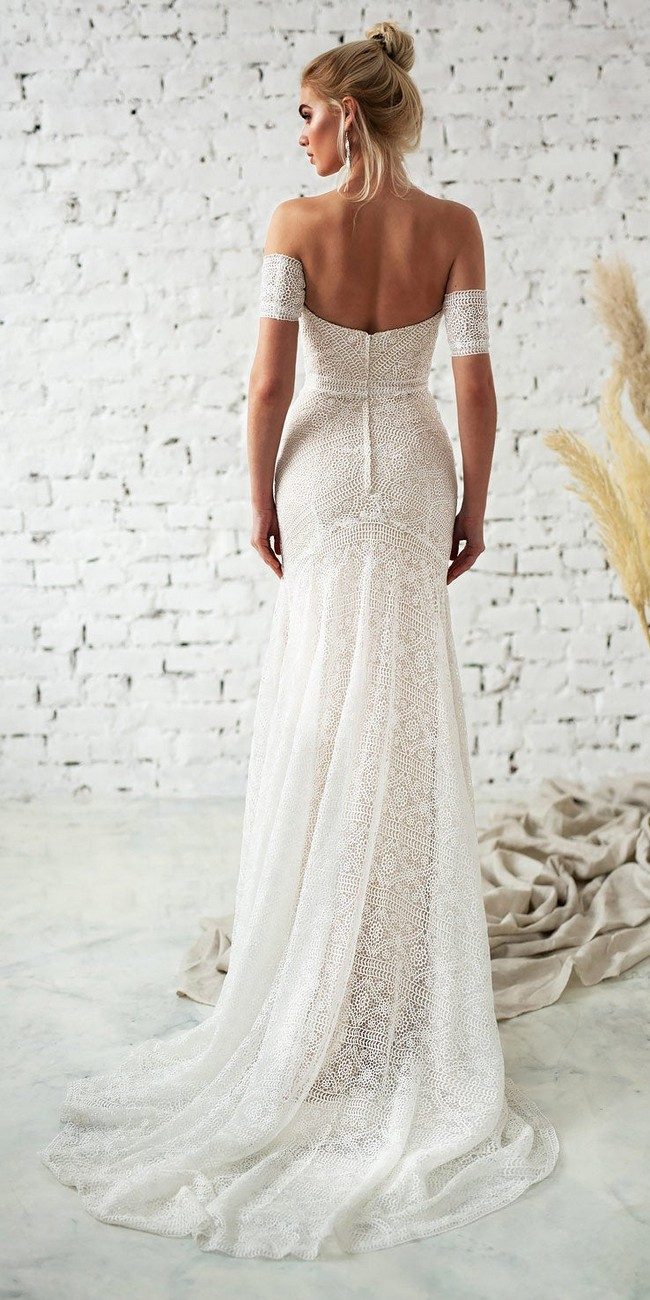 Fit and Flare Bohemin Lace Wedding Dress3