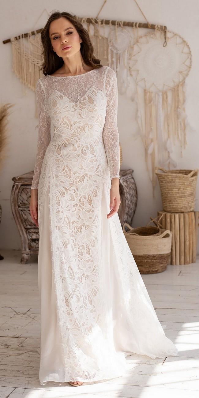 Long Sleeve Lace Wedding Dress2