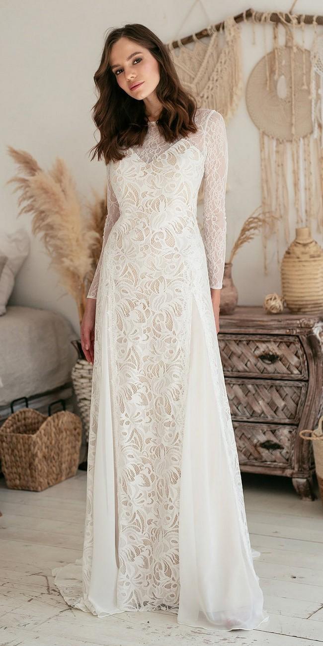 Long Sleeve Lace Wedding Dress3