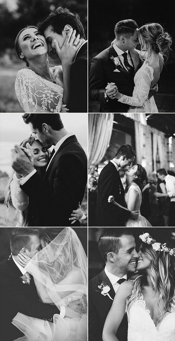 must have bride and groom black and white wedding photo ideas