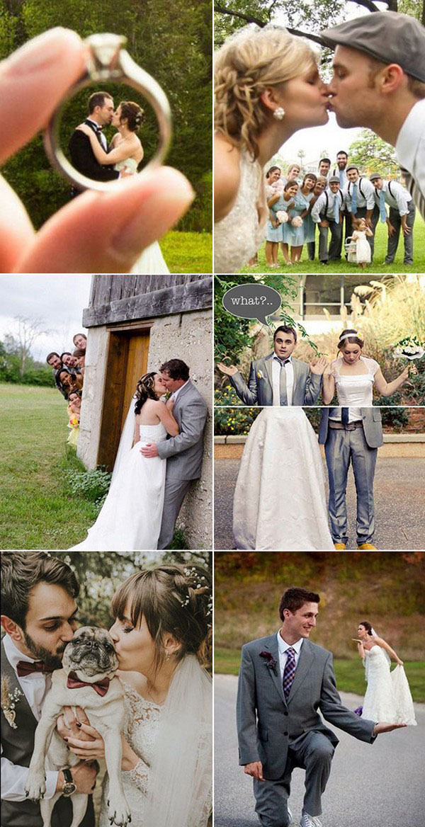 must have funny bride and groom wedding photo ideas