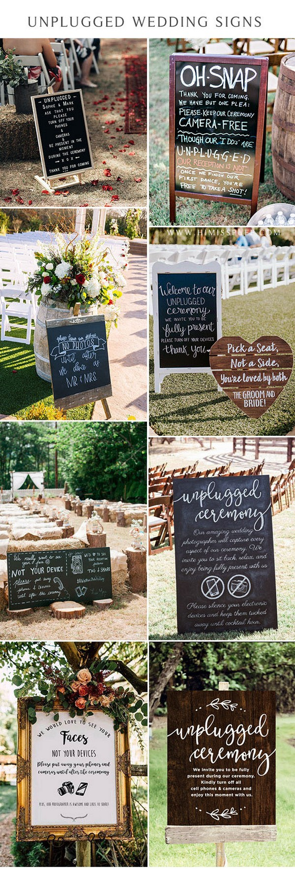 unplugged ceremony chalkboard sign Unplugged Ceremony Sign Unplugged Wedding Sign